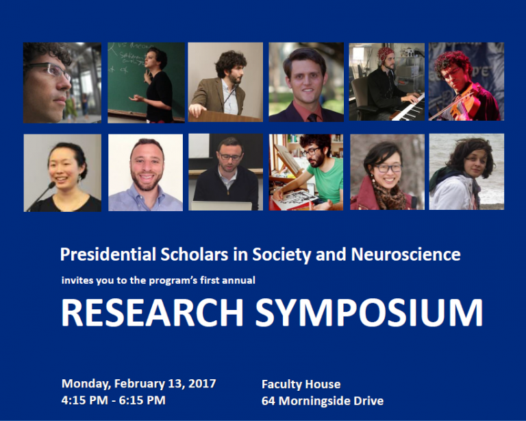 Photographs of Presidential Scholars in Society and Neuroscience