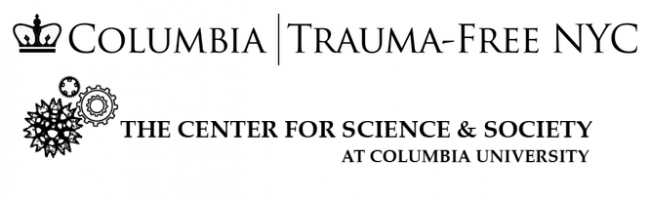 Logos of the Center for Science and Society and Trauma-Free NYC